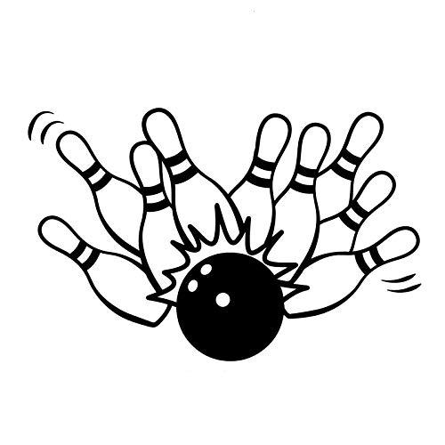 Rmtdczv 2 Stücke, Mode Bowling Sport Schwarz Lustige Vinyl Aufkleber Aufkleber Auto Autoaufkleber, Autofenster Aufkleber Wasserdicht Reflektierende Auto Aufkleber
