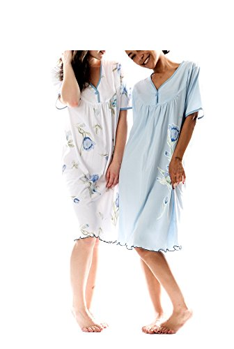 Consult-Tex Damen Nachthemd Baumwolle 2 Stück Packung DF844-845 38/40