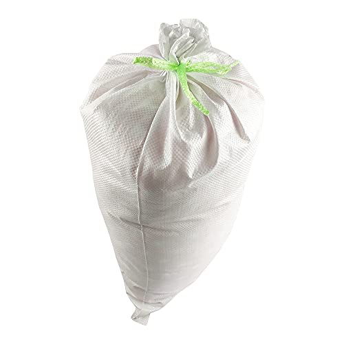"""Relarr Sand Bags 14"""" x 26"""" Empty White Woven Polypropylene Sandbags Ties Included (20 Pack)"""