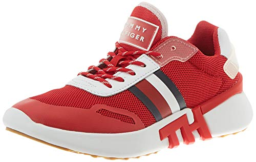 Tommy Hilfiger Damen Tommy Sporty Runner Sneaker, Rot (Primary Red XLG), 39 EU