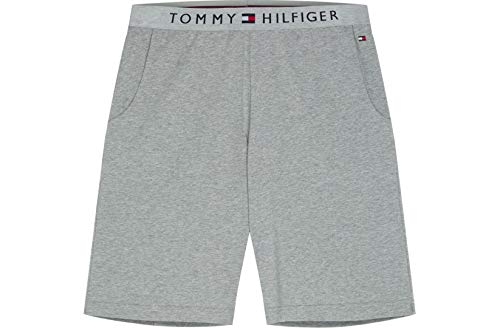 Tommy Hilfiger Klassisches Logo Herren-Trikot Lounge Shorts, Graue Heide Mittel