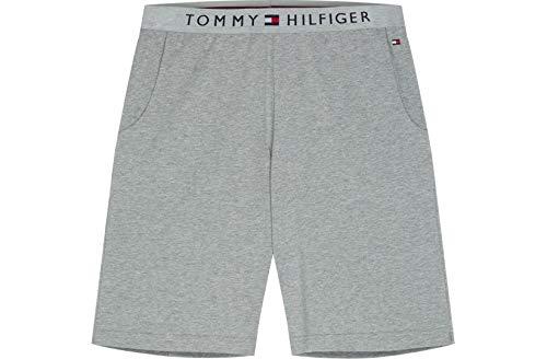 Tommy Hilfiger Klassisches Logo Herren-Trikot Lounge Shorts, Graue Heide Große