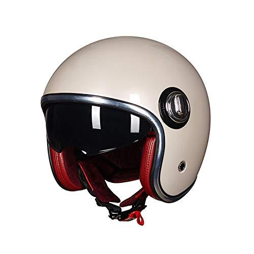 FCHMY Casco Moto Jet Abierto Retro Harley Motocicleta Vintage Moto Medio Casco...