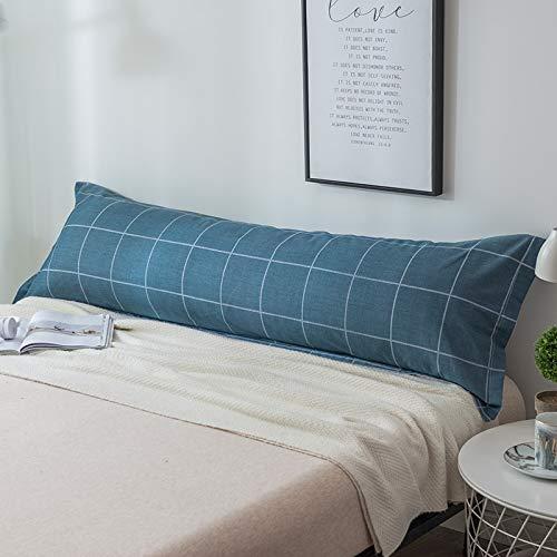 zhengyang Funda de almohada de algodón doble larga funda de almohada de algodón doble larga funda de almohada (color: 3, tamaño: 48 x 150 cm 1 pieza)
