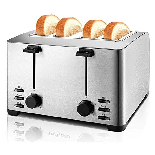 Toaster 4 Scheiben Retro Edelstahl Frühstücksmaschine Breite Schlitze Mit Herausnehmbaren Krümelablage 5 Brot...