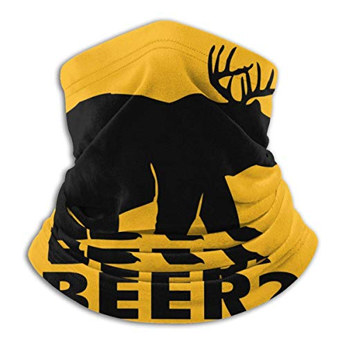 Dydan Tne Bear and Deer Is Beer Unisex Microfibra Cuello Calentador Headwear Pañuelo Facial