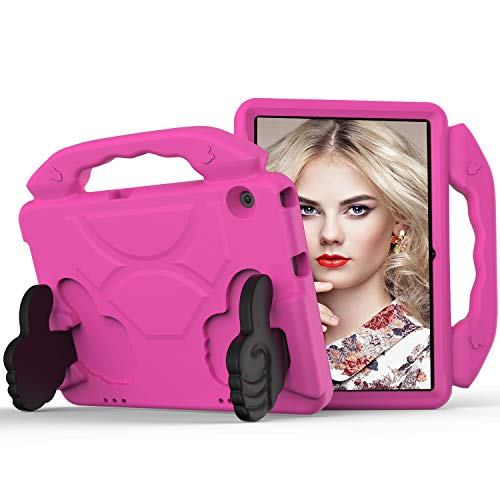 GOZOPO Compatible with Huawei MediaPad T5 Case Kids 10.1 inch - Huawei Honor Play Pad 5 10.1 Protective Case Shockproof Handle Stand & Lightweight Tablet Case (Rose)