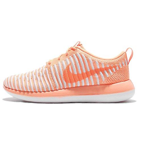 Nike Roshe Two Flyknit, Zapatillas Deportivas Mujer, Naranja (Peach Cream/Peach Cream-Pure Platinum), 38 EU