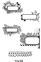 フレーム透明クリアシリコンスタンプ/DIYスクラップブッキング用シール/フォトアルバム装飾クリアスタンプA1709
