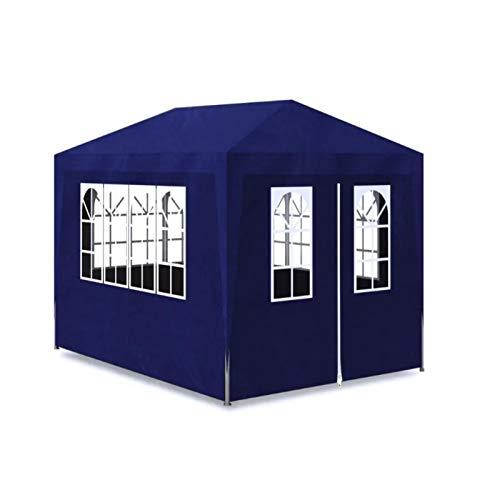 Tendone Feste,Gazebo da Giardino 3x4 m Blue, per Qualsiasi Evento all'aperto, Come spettacoli, Matrimoni, Feste, Barbecue, Campeggio, Festival e così Via