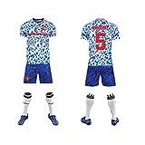 GAOjie Camisetas de fútbol para hombre, camiseta + pantalones cortos + calcetines, camiseta con estampado Joint name-Mánchèster.United F.C. ropa de entrenamiento, uniforme de fútbol para niño