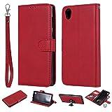 nancencen Compatible avec Sony Xperia E6 / L1 Housse, Cuir PU Portefeuille Coque TPU 2 in 1...