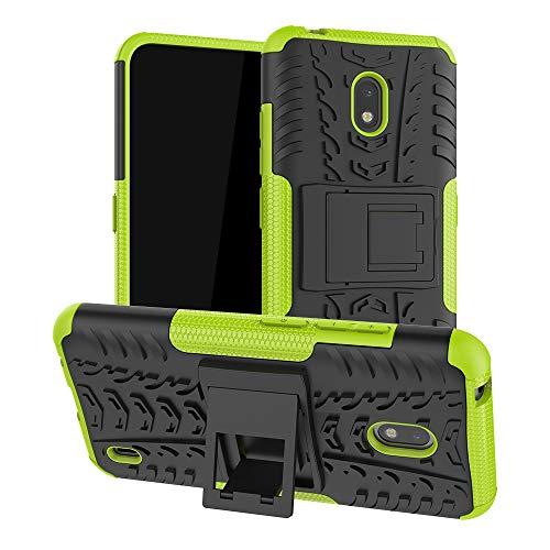 LFDZ Nokia 2.2 2019 Hülle,Abdeckung Cover schutzhülle Tough Strong Rugged Shock Proof Heavy Duty Hülle Für Nokia 2.2 2019 (Not fit Other Models),Grüne
