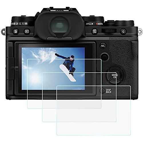 X-T4 X100V - Protector de pantalla para cámara digital Fujifilm X-T4 X100V (3 paquetes), vidrio óptico templado antiarañazos, sin burbujas, para Fuji x-T4 xt4 x100v