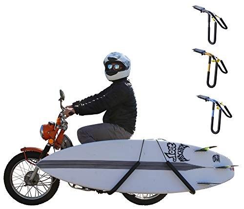Ho Stevie! Scooter/Moped Surfboard Rack [Choose Color] Cruise to Your Surf Spot (Black)