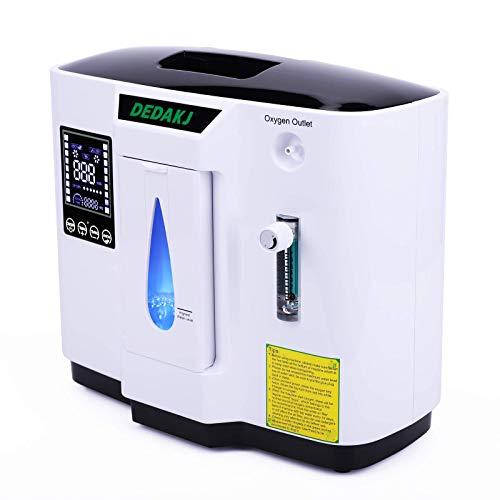 DEDAKJ Sauerstoffkonzentrator 1-7L / min O2 Generator Tragbarer intelligenter für Heimmaschinen 93{3faf0b4b37efd0043e03d25db9636efe436a197f37a5186bcfa523b884d5523f} hochreine AC 220V-Fernbedienung für den Heim- und Reisewagen - DE-1A