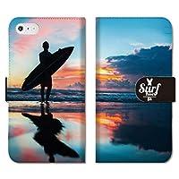 301-sanmaruichi- iPhone11 手帳型 PUレザー アイフォン 11 ケース 手帳型 おしゃれ surf サーフ サーフィン パームツリー ボタニカル ヤシの木 C 手帳ケース
