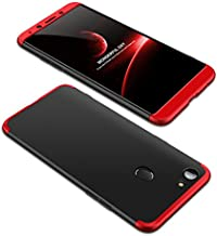 Case OPPO F5 youth 360 Degrees protective Cover + tempered glass film High quality, 3 in1 Full Body protection Bumper hard phone Case Ultra-thin Skin Case,for OPPO F5 youth (Black Red)