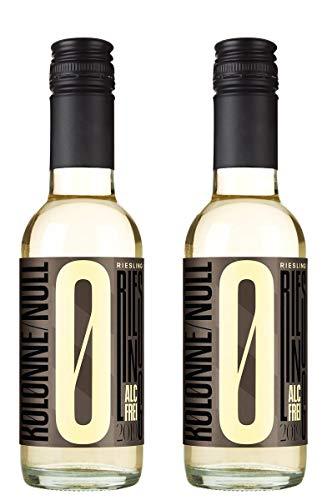 Kolonne Null - Alkoholfreier Riesling Stillwein vom Weingut Kruger-Rumpf - 0% Vol. Alk. -2er Pack- 2x 0,25L Flasche