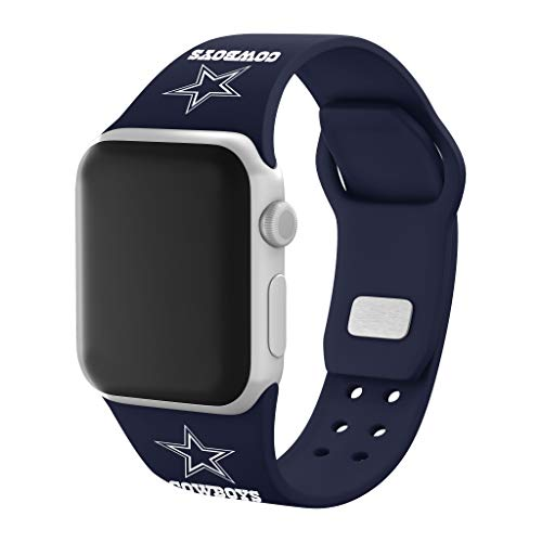 GAME TIME Dallas Cowboys Silicone Sport Watch Band Compatible with Apple Watch- 38/40mm (Navy)