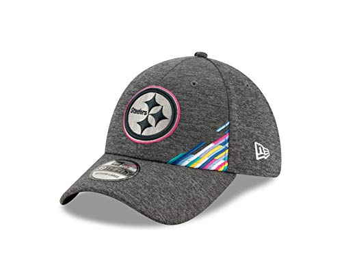 New Era Pittsburgh Steelers 39thirty Stretch Cap NFL 2019 On Field Crucial Catch Graphite - L-XL