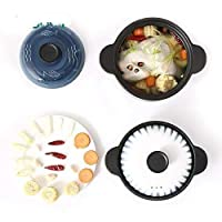 CS-DGキャセロールシチュー鍋家庭用オープン炎ガス炊飯器スープ鍋ストーンポット、高耐熱性のお粥のセラミックポット2.L (Color : 2, Size : 2.5L)