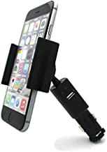Car Mount Charger Socket Holder with Charging USB Port for Microsoft Nokia Lumia 430 520 521 530 535 635 640 XL 710 735 810 820 822 830 925 928 950 1020 Icon 920 925 1520 1320 - LG Lancet, Vigor, Leon