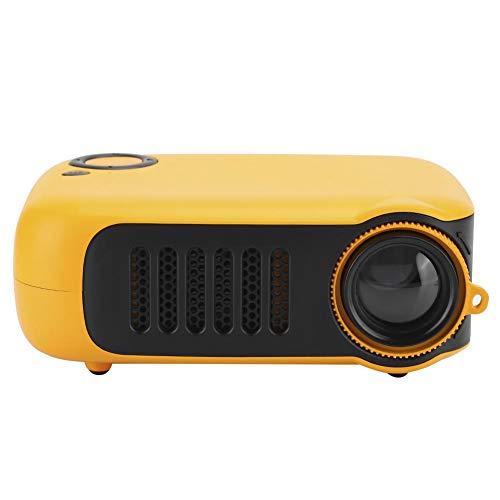 Mini-projector,Draagbare 1000 Lumen HD LCD-thuisbioscoopprojector, Kleine Draagbare Film Beamer-projector Met Afstandsbediening, Satief, voor Thuis/Entertainment/Kantoor(Oranje Zwart)