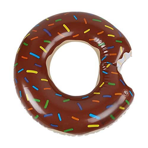 Gcxzb Schwimmreifen Pool aufblasbarer Ring Schwimmen Ring Erwachsene Frau Mann verdickung Mount anfänger Kind Wasser aufblasbar Spielzeug braun Mode niedlich (Size : 120)