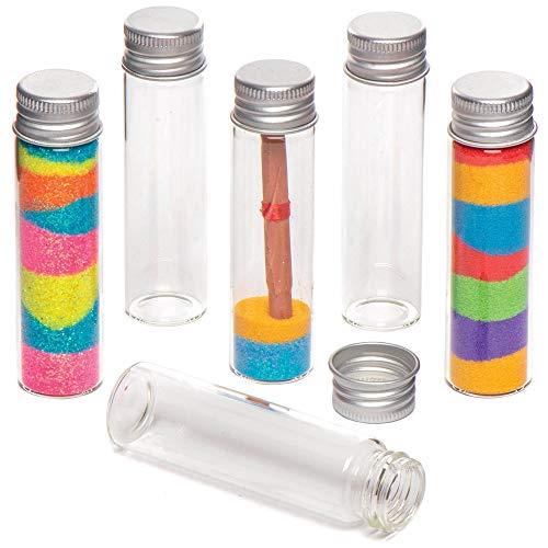 Baker Ross Glazen Flesjes met Aluminium Dop (8 stuks) Knutselspullen voor Kinderen
