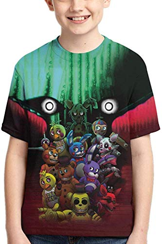 XCNGG Niños Tops Camisetas Cartoon Bear Kids 3D Graphic Cool Game T Shirts Clothing Short Sleeve Tees for Youth