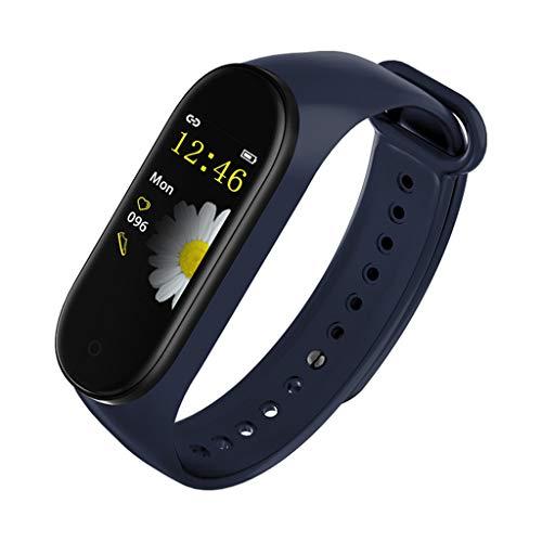 YWLINK Reloj Inteligente Pulsera Elegante De La Venda del Deporte De La PresióN Arterial del Monitor del Ritmo CardíAco Impermeable IP67 Reloj Deportivo Smartwatch Mujer CaloríAs Monitoreo del SueñO