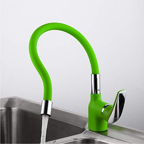 LLLYZZ groene silicagel neus elke richting keuken waterkraan koud en warm water mengende keukenkraan kraan