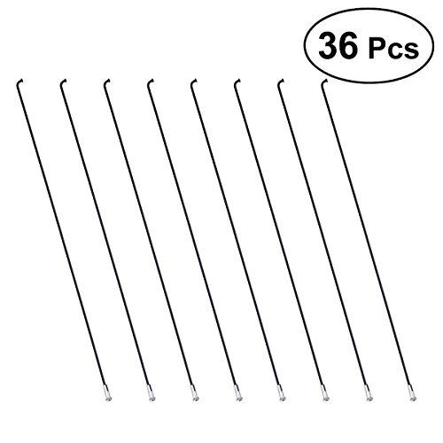 VORCOOL 36Stück MTB-Fahrradspeichen aus Stahl mit 36Stück Nippel - 26cm