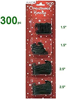ALAZCO Christmas Holiday Ornament Hanger Hooks (300 Green) Hang Holiday Ornaments & Decorations Tree, Garlands & Wreaths