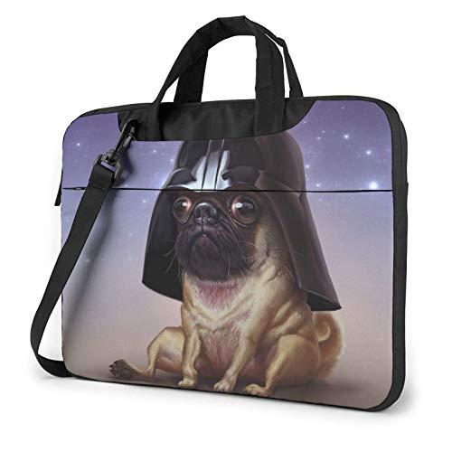 Bolsa de Ordenador portátil Funny Puppy Laptop Shoulder Messenger Bag 15,6 Pulgadas Funda Impermeable para Ordenador portátil Maletín de Transporte Maletín