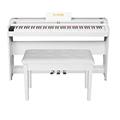 Note: This electric piano and piano stool combination has two packages, which may not arrive at the same time. FEATURE-3 pedal system(Soft/Sustain/Rear sustain pedal)/LCD display screen/80 demo songs/480 tones/128 standard GM tones/200 present rhythm...