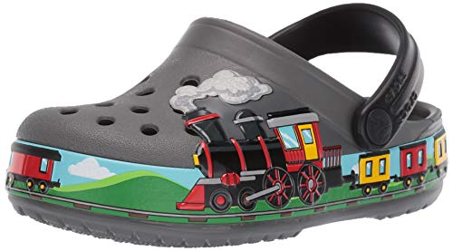 Crocs Unisex-Kinder Crocsfl Train Band K Clogs, Grau (Slate Grey 0da), 23/24 EU