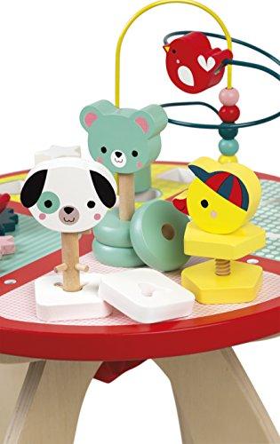 Janod- Table d'activités Baby Forest Grand Jouet d'Éveil pour Encastrer, Empiler,...