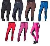 PFIFF 102290 Thea - Pantalones de equitación para Mujer (Piel sintética), Evergreen, Pantalón de equitación Thea, Mujer, Color Negro, tamaño 36