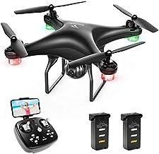 SNAPTAIN SP600 Drone avec Caméra 720P HD et 30 Mins Autonomie, Contrôle Gestuel, WiFi ,FPV 120° Grand Angle Réglable,Vol de Trajectoire, 3D VR, 360°Flips, Mode sans Tête, et Maintien de l'altitude