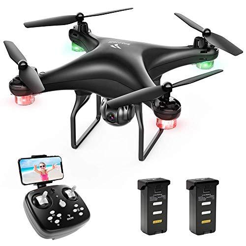SNAPTAIN SP600 Drone avec Caméra 720P HD et 30 Mins Autonomie, Contrôle Gestuel, WiFi ,FPV 120°...