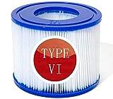 BDUCK - Cartucho de filtro para piscina (tamaño VI, para Bestway, Hot Tubs VI, filtro de repuesto para Bestway VI, filtro tamaño 6 para Lay-Z-Spa Miami, Las Vegas, Monaco (6 unidades)