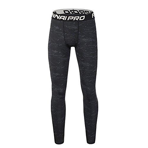 Collants-Sport Leggings, Pantalons de Compression pour Hommes Collants de Sport Collants Leggings Collants de Fitness (Noir#2, XL)