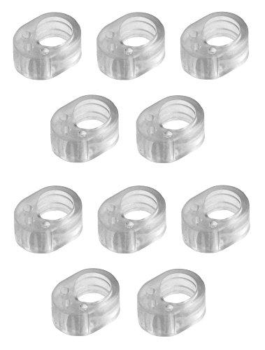 10 Pack de silenciadores para puerta transparentes.