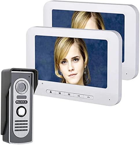 DZCGTP Videoportero de Video de 7'2 Intercomunicador de Monitor Interior para Villa Seguridad privada para el hogar Seguridad para el hogar Videoportero Timbre do