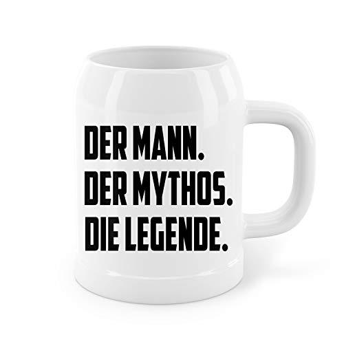 Papa Der Mann der Mythos die Legende Humor Vatertag Papa Stein Bierkrug Bierglas Geschenk