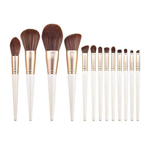 GYC Ensemble de pinceaux Mixtes 13 pinceaux de Maquillage Doux Blancs Foundation Brush Face Powder Blush Concealer Eye Shadow Makeup Brush Set, Non-Irritating Material Face Eye Makeup Brush Kit Tool