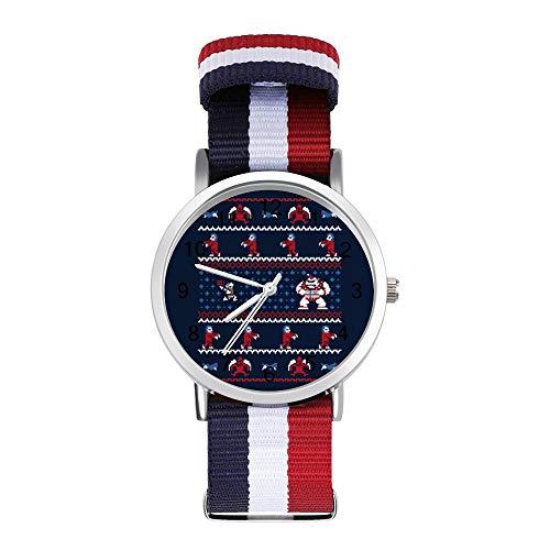 Ghosts N Goblins N Weihnachtsgeschenke Strickmuster Ghouls Freizeitarmband Uhren Geflochtene Uhr mit Skala