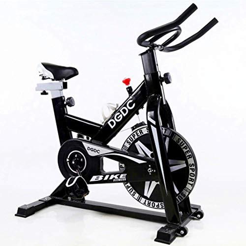 WOAIM - Bicicleta de spinning para interior y bicicleta estática vertical con sistema de transmisión de bajo ruido para cinturón de entrenamiento aeróbico, 5